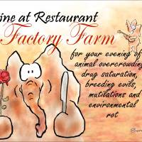 Dine at Restaurant Factory Farm Art Prints & Posters by Ben Isacat
