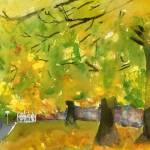 """Misty Yellow Autumn"" by schulmanart"