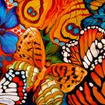 """BUTTERFLY ABSTRACT 06"" by MBaldwinFineArt2006"