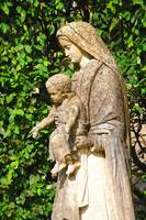 Virgin Mary and Christ statue