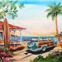 Surfer's Paradise Art Prints & Posters by Bill Drysdale