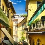 """Bellagio Street View with Balconies, Lake Como, It"" by George_Oze"