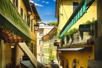 Bellagio Street View with Balconies, Lake Como, It