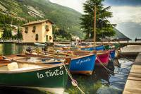 Small Boats in a Harbor at Lake Garda