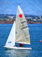 Sailing Dinghy in Torbay, Devon