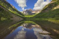 Maroon Bells Images - A Maroon Lake Reflection 1
