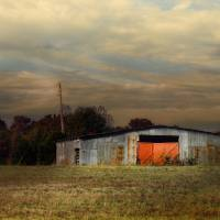Red Doors - Barn at Sunset Art Prints & Posters by Jai Johnson