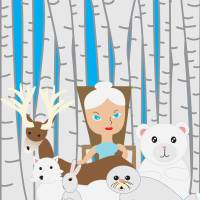 Mother Nature Winter Scene Art Prints & Posters by Valerie Waters