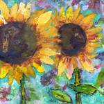 """Sunflower Friends by Miriam Schulman"" by schulmanart"