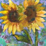 """Sunflower Lovers by Miriam Schulman"" by schulmanart"