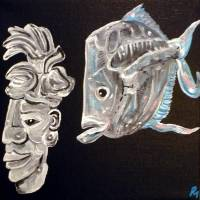Pakal and the Lookdown Fish Art Prints & Posters by Pollux (Paul Morris)