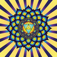Flower of Life Merkaba Mandala