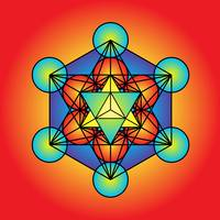Metatron's Cube with Merkaba