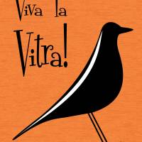 Vitra Bird on Orange Art Prints & Posters by Donna Mibus