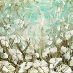 """white poppies landscape"" by modernhouseart"