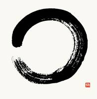 Enso Circle Brushed In Black Sumi