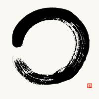 """Enso Circle Brushed In Black Sumi"" by nadjavanghelue"