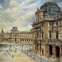 The Louvre Museum Art Prints & Posters by Joey Agbayani