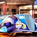 """1937 Delahaye 135 M Cabriolet with coachwork by Fi"" by ArtbySachse"