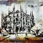 """Duomo Milan Modern Decorative Mixed Media Art"" by GinetteCallaway"