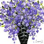 """""""purple floral bouquet"""" by modernhouseart"""