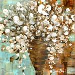 """white floral bouquet"" by modernhouseart"