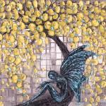 """Fairy under cherry blossom"" by modernhouseart"