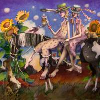 Nightgowns,cowboy hats and an Early Morning Ride Art Prints & Posters by Toni Pawlowsky