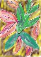 Pink & Green Leaf - Anna's digital art #7