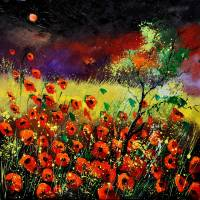 Poppies 7741 Art Prints & Posters by pol ledent