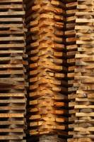 Stacked Pile of Lumber