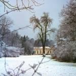 """""""Nymphenburg Lodge in Snow"""" by PriscillaTurner"""