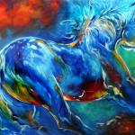 """CAPTURED WILD STALLION EQUINE"" by MBaldwinFineArt2006"