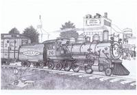 032  Wabash Cannonball -- pen / ink -- $75.00 -- p
