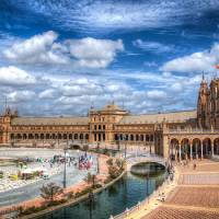 Plaza de España (Seville) Art Prints & Posters by Christian Requena