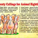 """Twenty Callings for Animal Rightists"" by Isacat"