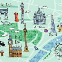 London, UK by Kate Rochester Art Prints & Posters by They Draw & Cook & Travel