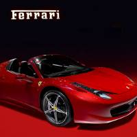 Red ferrari convertible Art Prints & Posters by Radoslav Nedelchev