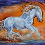 """Broncos Feel The Thunder (digital)"" by UngerArt"