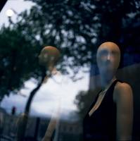 Surreal shop dummy mannequin portrait