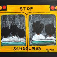 Back to  school Folk Art Larry Kip Hayes Art Prints & Posters by Kip Hayes