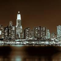 Manhattan skyline Art Prints & Posters by frank reginella