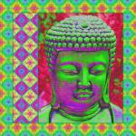 """Buddha Pop in Green and Magenta"" by SherylKaras"