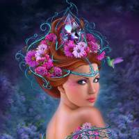 Flower queen Art Prints & Posters by Alena Lazareva