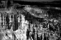 Bryce Canyon in Black and White
