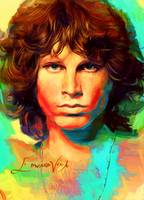 Jim Morrison Pop Art Poster