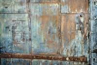 Green Fire Door with Rust