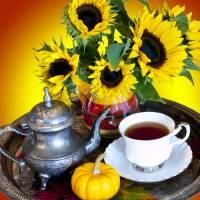 Autumn Tea Service Art Prints & Posters by Rae Tucker