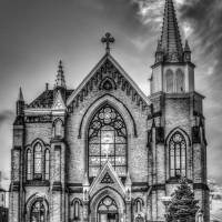Saint Mary of the Mount - B&W Art Prints & Posters by Joseph Heh