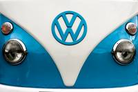 Blue VW campervan